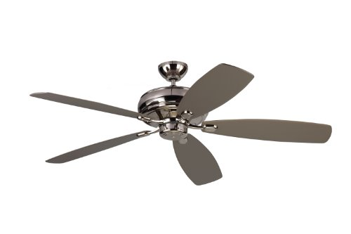 Monte Carlo Polished Ceiling Fan - Monte Carlo 5EM60PN Embassy Max, 60