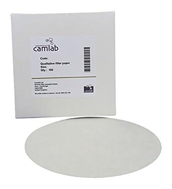 Camlab 1171128/122/ carta da filtro multiuso, molto veloce, diametro 90/mm, confezione da 100 114