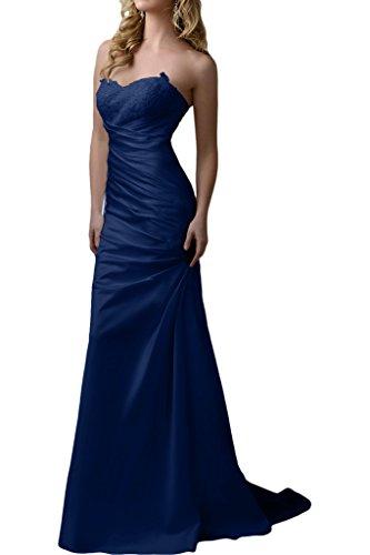 Partykleider Schnitt Etuikleider Brautmutterkleider La Satin Figurbetont Navy Blau Schmaler mia Pink Abendkleider Braut Spitze FqPw0qRH
