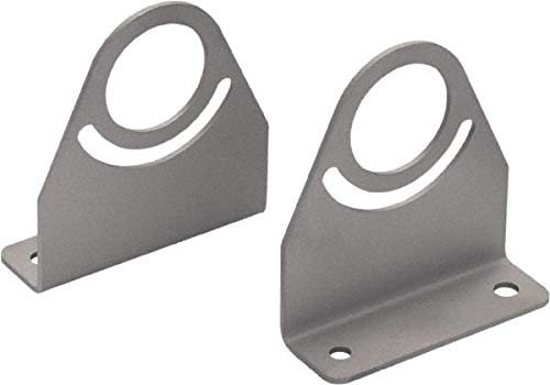 Waldmann Lighting - Task and Machine Lamp Mounting Bracket Set - Silver, for Use with Mach LED Plus 40-2/Case (2 Cases)