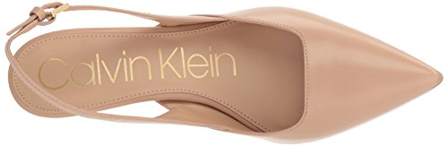 fb5ce4c9f28 Calvin Klein RIELLE Pointed Toe Slingback PUMPS 543 Desert Sand 8 US ...