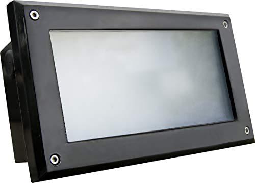 DABMAR LIGHTING FG2000-BZ Fiberglass Recessed Open Face Brick/Step/Wall Light, Bronze
