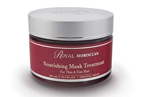 Royal Moroccan Formula – Nourishing Mask Treatment 500 ml For Thin And Fine Hair- Base of Moroccan Argan oil, For color Treated Hair
