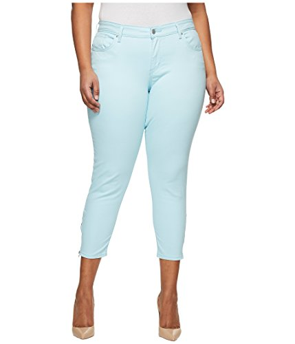 Cotton Sateen Ankle Length Pant - Levi's Women's Plus-Size 711 Ankle Skinny Zip Jeans, Iced Aqua Sateen, 42 (US 22)