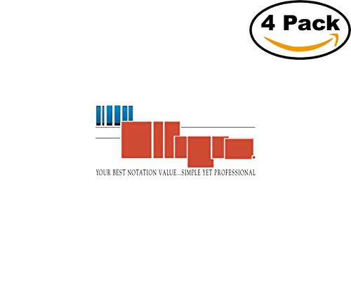 Finale Allegro 4 Stickers 4X4 inches Car Bumper Window Sticker Decal -