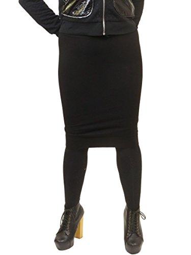 Hardtail Short Cotton Pencil Skirt W-525 (M, Black)