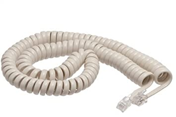 Buy ECore+Cables Off White Coiled Telephone Handset Cord