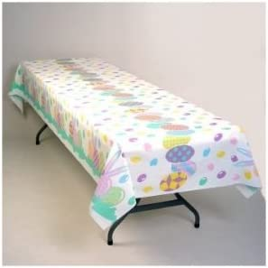 Easter Eggs Plastic Banquet Tablecloth 54 X 108 Home Kitchen