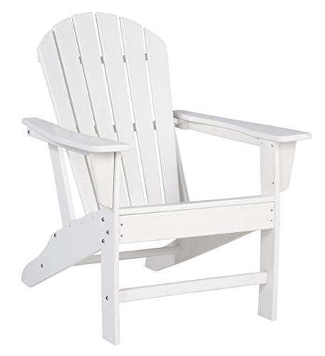 Ashley Furniture Signature Design – Sundown Treasure Outdoor Adirondack Chair – Hard Plastic – White
