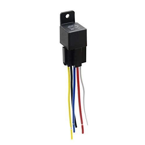 - uxcell DC 36V 40A SPDT Automotive Car Relay 5 Pin 5 Wires w/Harness Socket Plug