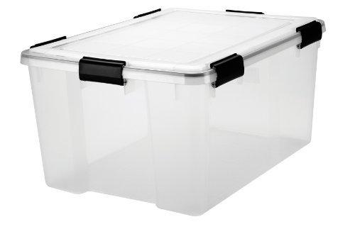 Amazoncom 62 Quart WEATHERTIGHT Storage Box 4 Pack Clear by