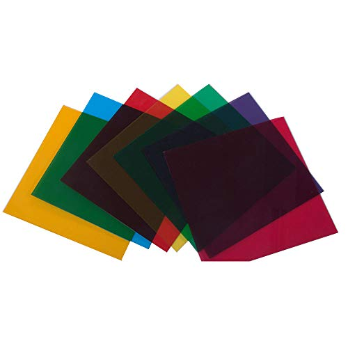 HOHOFILM 7Pack of Colored Acrylic Plastic Sheet Clear Acrylic Sheet with Tranparent Decorative Film 12