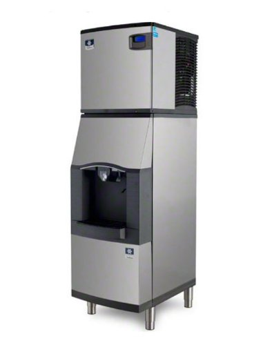 manitowoc-iy-0324a-sfa-191-350-lb-air-cooled-half-cube-ice-machine-w-sfa-191-hotel-dispenser