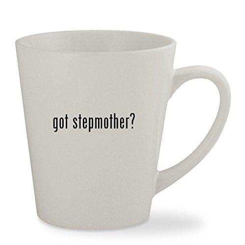 got stepmother? - 12oz White Sturdy Ceramic Latte Cup (Cinderella Evil Stepmother Costume)