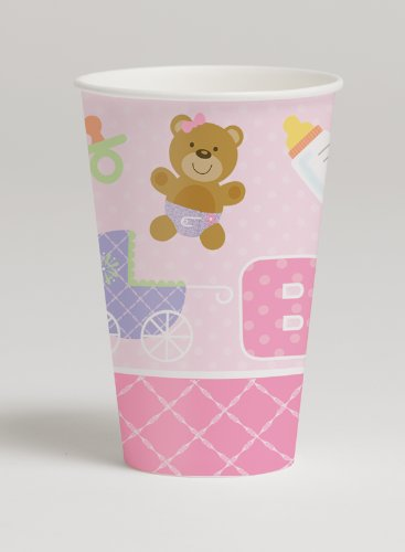 Teddy Baby Pink Hot/Cold 12oz Paper Cups 96ct