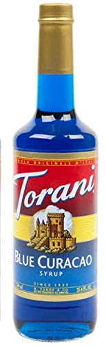 Torani Blue Curacao Syrup, 750 ml Bottle by Torani