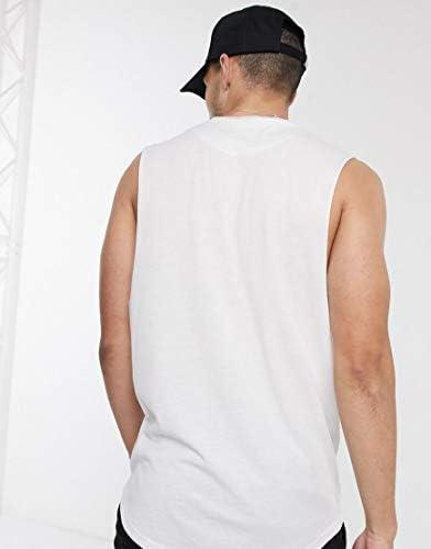 ルブレーブ タンクトップ ノースリーブ アームホール メンズ Le Breve sleevless t-shirt in whiteRRP [並行輸入品]