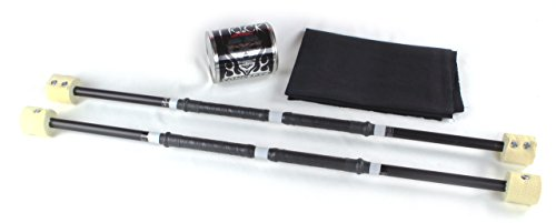 Trick Concepts - Double Fire Staffs, Set of 2, 3ft with Kevlar Wick, Quart Dip Can, Fire Blanket by Trick Concepts
