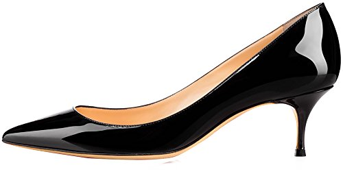 Calzado Para Mujer Cabelow Pobel-toe 5.5cm Stiletto Slip-on Bombas Zapatos Negro
