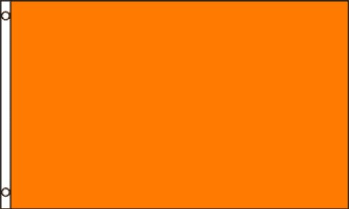 Orange Solid Color Flag (Premium Quality Polyester), 3' x 5' ()