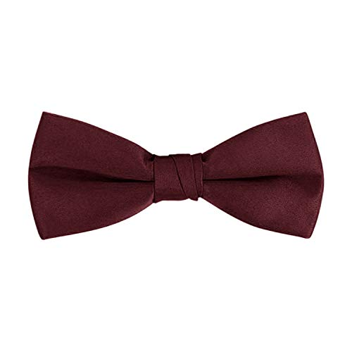 Men's Classic Pre-Tied Formal Tuxedo Bow Tie - S.H Churchill (Burgundy)]()