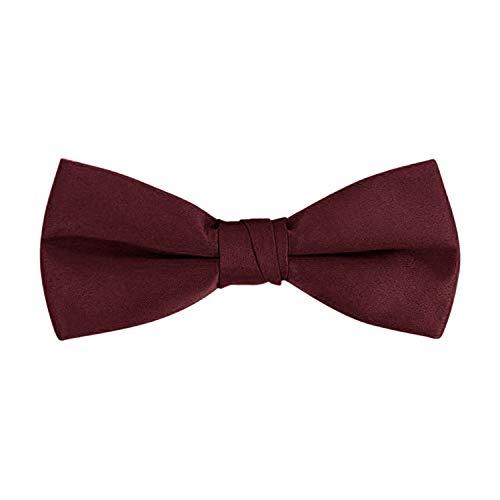 Men's Classic Pre-Tied Formal Tuxedo Bow Tie - S.H Churchill (Burgundy) -