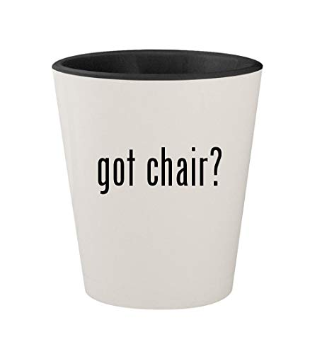 (got chair? - Ceramic White Outer & Black Inner 1.5oz Shot Glass)