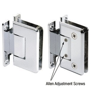 C.R. LAURENCE C0L337CH CRL Chrome Cologne 337 Series Adjustable Wall Mount Full Back Plate Hinge