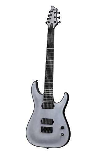 (Schecter KM-7 Keith Merrow Artist Model Solid-Body Electric Guitar, Trans White Satin)