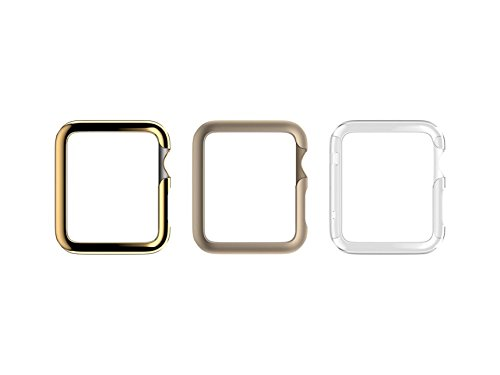 Griffin Apple Watch 42mm Protective Cases - 3 Pack - Ultra Thin Case [Gold, Champagne, Clear]