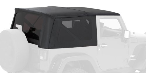 Bestop-56802-35-Black-Diamond-Trektop-Complete-Replacement-Soft-Top-with-No-Doors-Included-Tinted-Windows-2004-2006-Jeep-Wrangler-Unlimited