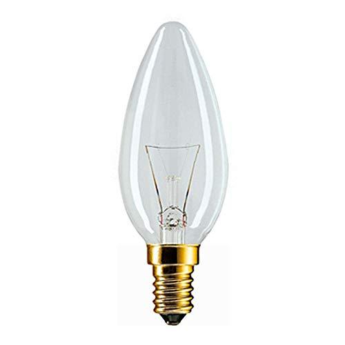 Philips 30600009 Vela con forma de bulbo incandescente Vidrio 25W E14 Blanco