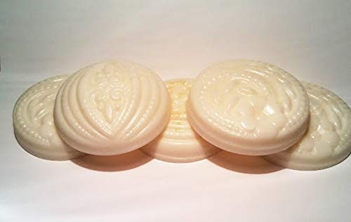 Freesia Scented - 5 Pc Guest Sized - Shea Butter and Goat Milk Soap ()