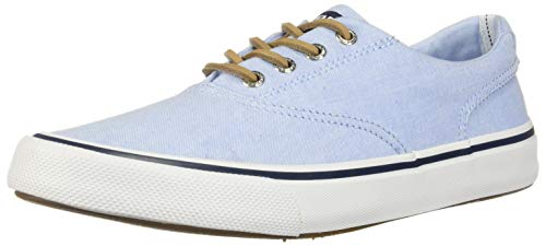 Sperry Top-Sider Striper II CVO Oxford Shirt Sneaker Men 10 Light Blue ()