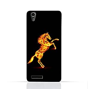 Lenovo A3900 TPU Silicone Case With TPU Silicone Case With Horse on Flame Design.