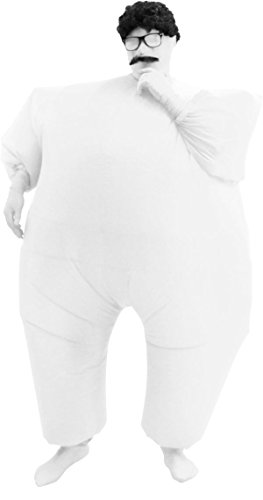 [Chub Suit Inflatable Blow up Full Body Jumpsuit Costume (White)] (Inflatable Chub Suit Costume)