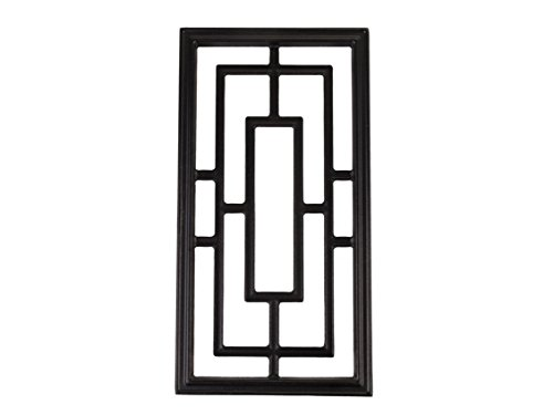 Minimum Iron (Nuvo Iron RECTANGLE ALUMINUM DOOR INSERT 17