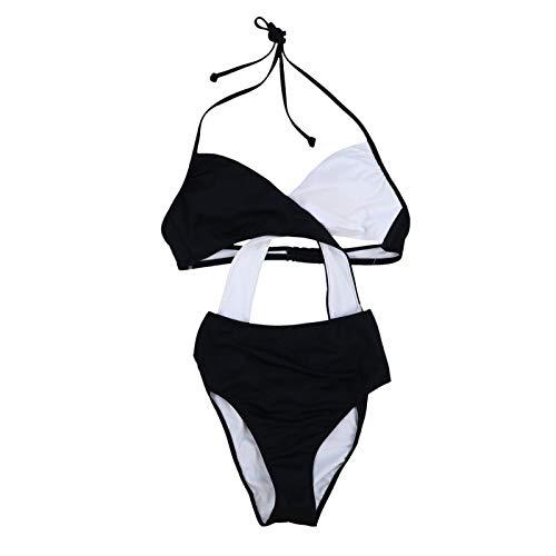 Victoria's Secret Pink One Piece Monokini Swim Suit (S, Black White)