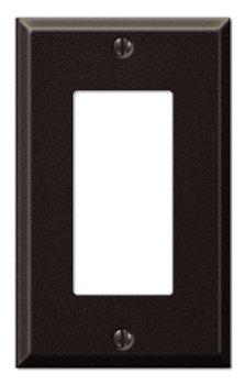 Creative Accents Wall Plate (Black Steel - 1 Rocker Wallplate)