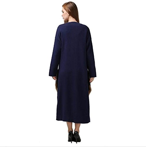 Windbreaker Party Long Coat Ms Blue Thin Coat Winter Autumn Personality ManRiya Travel Attend Loose Party Section Warm Birthday And FT5q8YT