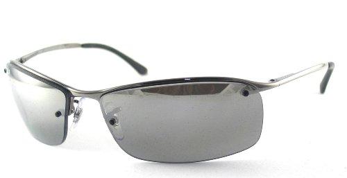 2c61bf8aba53 Ray Ban Sunglasses RB3183 Top Bar 004 82 Gunmetal Grey Polarized Mirror  Silver Gradient