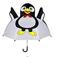 Kids Umbrella - Children Easy Safe Pop Up Penguin Umbrella