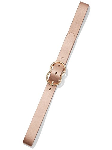New York & Co. Women's Metallic Faux-Leather Belt M Rose Gold Metallic Scs (Glam Metallic Belt)