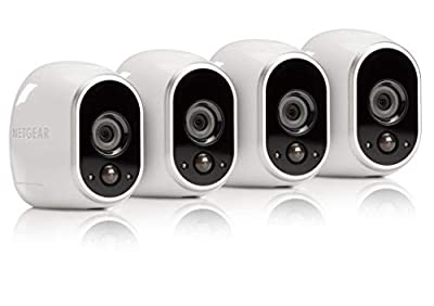 Arlo by NETGEAR Security System - 4 Wire-Free HD Cameras | Indoor/Outdoor | Night Vision (VMS3430), Works with Alexa