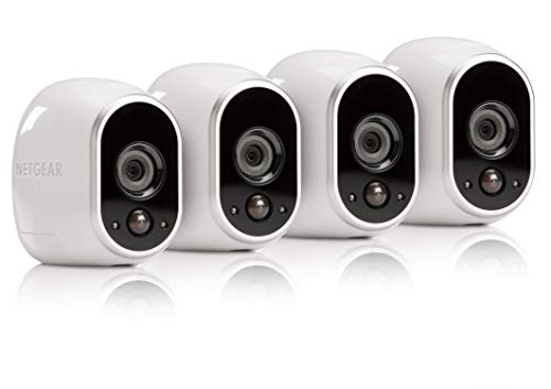 Arlo by NETGEAR Security System - 4 Wire-Free HD Cameras | Indoor/Outdoor | Night Vision (VMS3430), Works with (Indoor Outdoor Security System)