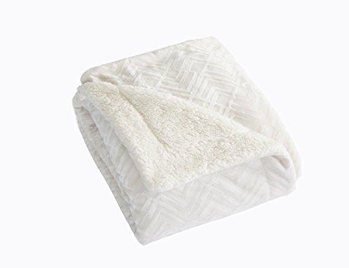 Home Fashion Designs Premium Reversible Sherpa And Fleece Velvet Plush Blanket Fuzzy Soft Warm Berber Fleece Bed Blanket Brand Twin Winter White Buy Online In Oman Home Fashion Designs Products