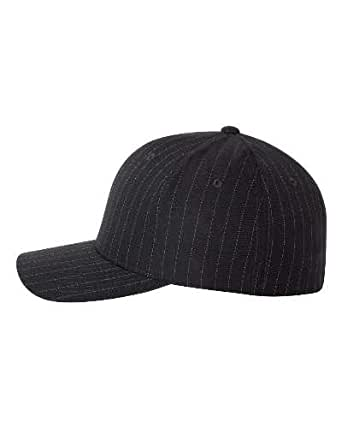 Original Flexfit Pinstripe Hat Baseball Blank Cap Fitted Flex Fit 6195P Small / Medium - Black / White