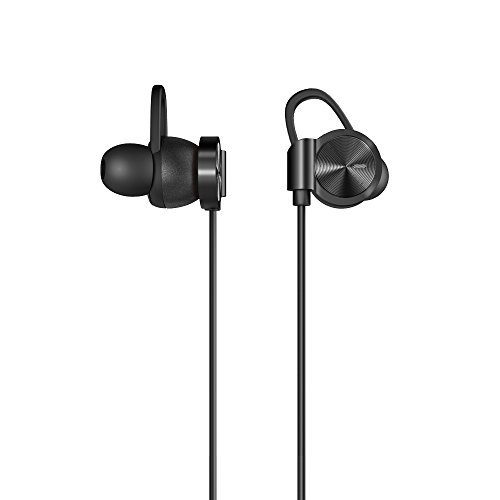 SMARTOMI MOTTO Active Noise-Cancelling Headphones Bluetooth 4.1 Wireless Earphones with Mic Stereo Headset Premium Bass Sound 7 Hours Sweatproof In-Ear Earbuds for iPhone Android Smartphones