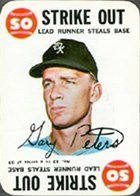 1968 Topps Topps Game (Baseball) Card# 13 Gary Peters of the Chicago White Sox ExMt Condition