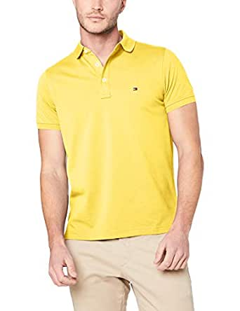 TOMMY HILFIGER Men's Slim Fit Polo Shirt, Freesia HTR, Small